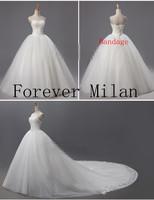 new 2015 designer Limited edition quality wedding dress fashion brief lace  train sweetheart princess wedding dresses
