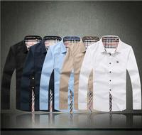 Classic Plaid Shirt, London Brand Famous Deasigner Men's Shirt, 2014 Spring New Slim Fit Long Sleeve Men Dress Shirts,b161