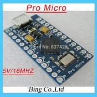 Free Shipping!! 3pcs/lot New Pro Micro 5V/16MHz ATMega 32U4 Module with 2 row pin header For Leonardo