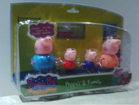 Peppa pig family Figure set toy  Action Figure Doll with retail box,4 pcs/set,Real Photo