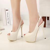women pumps new 2014 open toe platform thin heels shoes sexy women high heels summer sandals  women shoes high heel 601 @