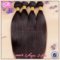 She hair 6A malaysian virgin hair straight 3pcs free shipping,soft human hair weave no tangle,natural black hair can be dyed