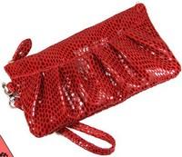 multicolor genuine leather wallet Classic cowhide ruffle women clutch bag female handbag large capacity purse Drop Free shipping