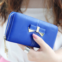 Isn't 2014 fashion wallet hasp bow laciness women's coin purse