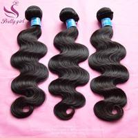 Peruvian Virgin Hair Body Wave 3/4Pcs Lot Natural Black Hair Weaves Color 1B Cheap Human Hair Extensions 5A Landot Hair Products
