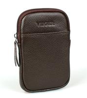 Brown Leather Waist Bag Pack for Men Travel Bags Passport Wallet Fanny Pack Money Belt Bag Mobile Phone Pouch Bum Bag