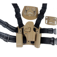 For HK USP Compact Type Tactical Airsoft Drop Leg Right handed holster Set W/ Panel Mag Flashlight Pouch Belt Loop paddle Sand
