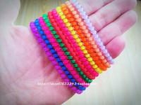 Free shipping 100pcs/bag multi colour children slim printed telephone cord elastic hair rope hair holder wholesale