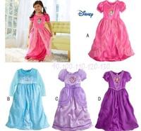 2014 Spot Girl Sleepwear Frozen Dress Princess Elsa Nightgown for Girls Sleep Dress Frozen Nightgown long-Sleeve !