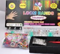 Free Ship 150set Loom Band set Kits Fun Loom Rubber Bands Kit DIY Bracelets Colorful Children Toy Gift For Jelly Bracelet Bangle