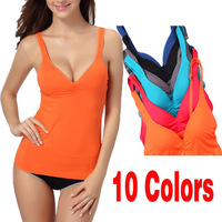 Modal Women's Candy Adjustable Strap Built In Bra Padded Tank Top Camisole Camis Drop Shipping