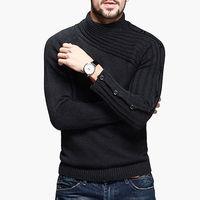 2014 Hot 100% Cotton Men's Turtleneck Sweater Brand High Quality Warm Winter Slim Pullovers Fashion Men Slim Fit Sweaters