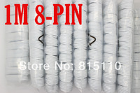 High Quality White 1M 8Pin Usb Charger Sync Cable For iphone 6/5/5s/5c Support iOS 8.0 100PCS DHL Freeshipping
