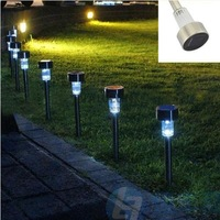 Free shipping 5 pcs/lot Stainless steel Solar lawn lamps for garden decorative 100% solar power light Outdoor solar lamp