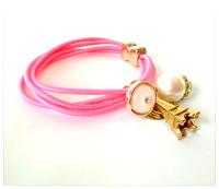 Wholesale Lovers sister bracelet pendant multi-layer elastic bracelet hair rope ponytail holder hair accessories