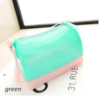 New korean style handbag children Purses kids girl jelly bags candy colors shoulder bag mini totes transparent women wallets