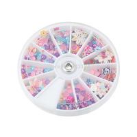 New Arrival 1200pcs Nail Art Wheel Mixed Nail Art Tips Glitters Rhinestones nail tools nail art decorations