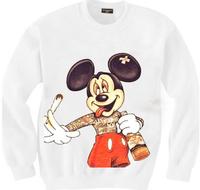 East Knitting SH-08 new 2014 women hoody Harajuku Print sweatshirt smoke mouse Free shipping