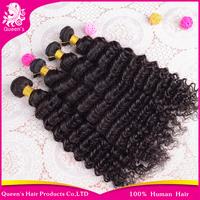 Peruvian Virgin Hair Deep Curly Cheap Weaves 3pcs lot Virgin Human Hair wavy and thick Peruvian curly Hair Extension free ship