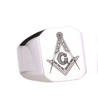 Size 8-15 Two Color  Free shipping Stainless Steel Big Heavy Masonic Ring Jewelry 2015 New BR8-019