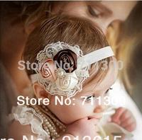 wholesale 5pcs/lot 2014 new  lace flower girls headband Toddler headwear baby & kids headbands children hair accessories