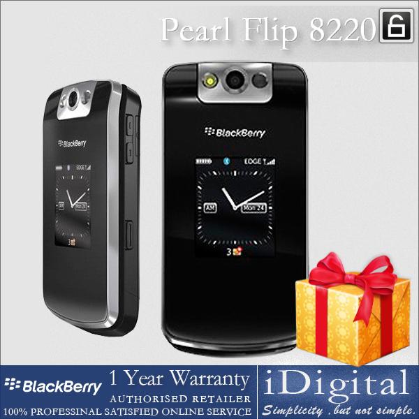 "Original Blackberry Pearl Flip 8220 Mobile Phone Unlocked 2.6"" TFT Screen QWERTY 2.0MP Camera GSM WIFI Factory Refurbished(China (Mainland))"