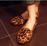 new womens flats shoes 2015 leopard print Moccasins  pans comfortable  women flats heel single shoes woman sapatos femininos