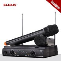 Professional VHF wireless microphone, brand C.O.K  handheld karaoke Vocal Mic System, perfect for  performance, karaoke ..