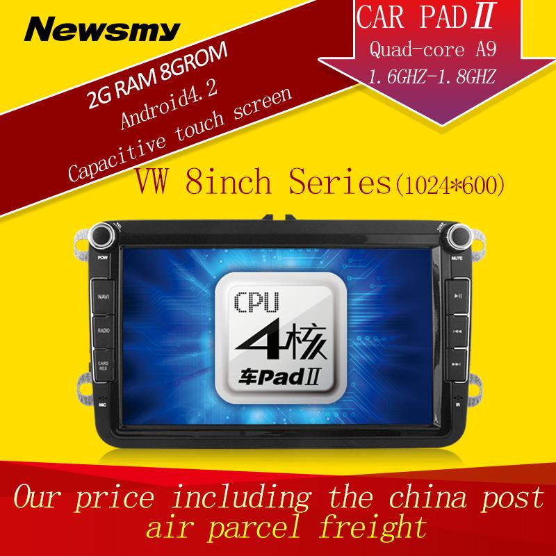 VW Magotan HD CarPad car video recorder Android 4.2 Quad-Core 2 Din Car DVD GPS mp3 car player(China (Mainland))