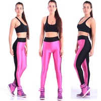 2014 New Fashion Women Active Leggings High Waist Stretched Patchwork Pants Sporting Fitness Yoga Pants Leggings