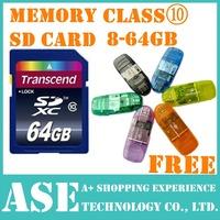 Memory Card 32GB class 10 SD Card 128MB 8GB 16GB SDHC 64GB SDXC Transflash flash USB memory TF Micro +SD card Reader+Retail box