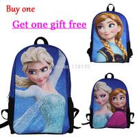 2014 new frozen kids backpack for boys girls frozen anna elsa cute cartoon children's school bag women's backpacks students