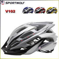 2014 New Brand Sportwolf Bicycle Integrally-Molded Helmet Multi Colors 260G V-102 Super Light Adult Men's Bike Helmet In-Mold