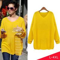 L XL XXL XXXL 4XL 2014 Women Fashion Plus Size Knit Winter Sweaters