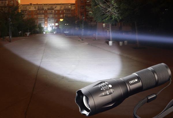 High Power UltraFire cree led flashlight XM-L T6 2000Lumens Torch Zoomable camp lanterna lamps 18650 flashlight free shipping(China (Mainland))