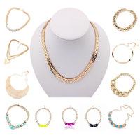 long necklaces women men silver set Gold chain necklaces & pendants