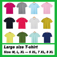 New Summer male Short sleeve Large size Candy-colored T-shirt Sizes have XXL - 8XL Free shipping