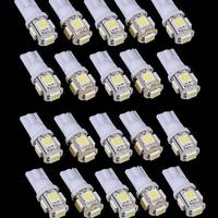 20pcs/Lot LED Car Light Source T10 5 LEDs SMD5050 Car Bulb 194 168 W5W Car Side Wedge Tail Light Lamp Bulb  Reading Lamp