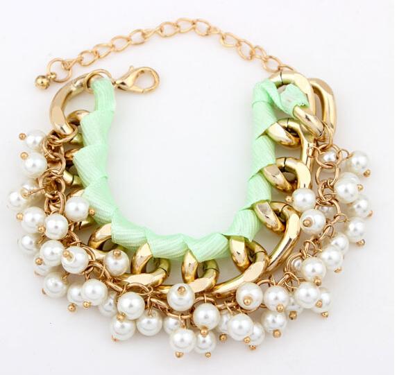 Браслет с брелоками Faux Pearl Bracelet Elegent Faux cxt906124 faux pearl