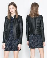 Rivet Women Brand jaqueta couro, Soft PU Leather Jackets Black Blazer Zippers Coat Motorcycle Outerwear jaqueta couro feminino