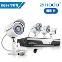 Zmodo cctv 8ch 960h video surveillance system 4pcs 700tvl outdoor camera system+Free Shipping