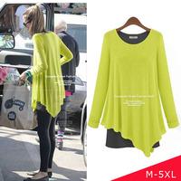 2014 Spring Fashion M L XL XXL 3XL 4XL 5XL Plus Size Long Sleeve T Shirt