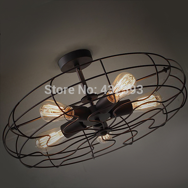 ... Industrial Style Electric Fan Ceiling Light Dia 540mm Edison Picture
