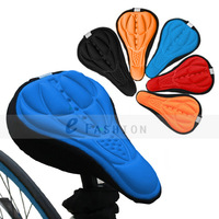 Free Shipping! 4 Color New Cycling Bike Saddle Comfortable Silicone Gel  Cushion Soft Pad Bicycle Seat Cover 202-0067