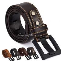3.8cm Mens Boys Top Grain Genuine Leather Cowhide BELT Single Prong Buckle Business Casual Dress Jean Wholesale Gift UTM36