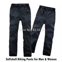 New 2014 Winter Soft Shell Outdoor Hiking Pants for Men & Women Pants Windstopper Camping Climbing Skiing Trekking Pants