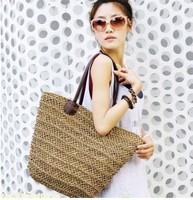 Hot sale package hollow straw bags lady beach handbags women summer shoulder bag