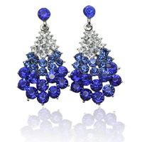2014 New! Earing For Women High Quality Austrian Crystal Earrings and Fashionable Charm Women Earrings, Free Shipping