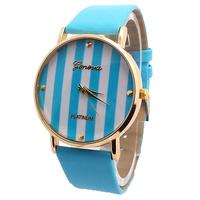 GENEVA  Wholesale women wristwatches ladies fashion leather strap quartz watch Women dress watches 888