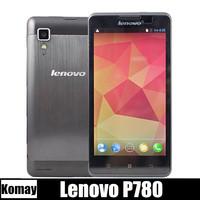 new original Lenovo P780 Quad core mobile phones 5 inch HD 1280x720 MTK6589 1.2GHz 1GB RAM 4GB 8.0MP Camera 4000mAh battery
